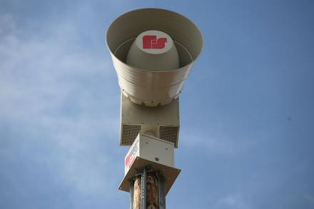 Weather siren in Ashton IL